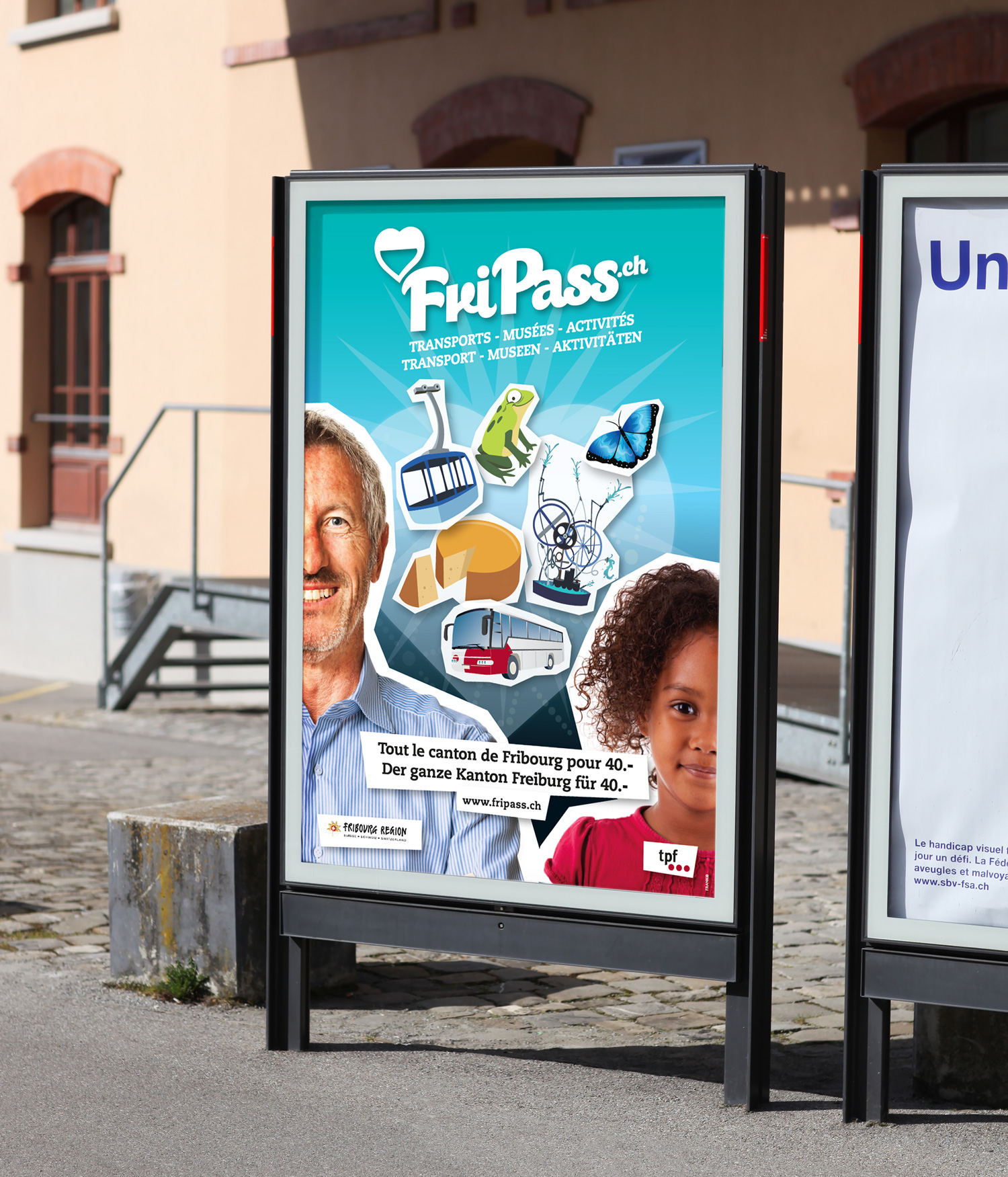 Frank R - Campagne de communication - Fripass - Fribourg